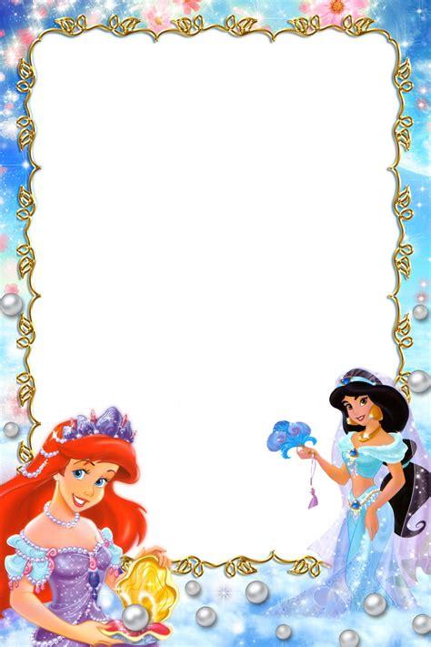 printable disney art princess border frames pictures i like princesses