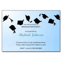 hats graduation invitation