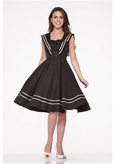 Dress Sailor retro sailor dress backward glances