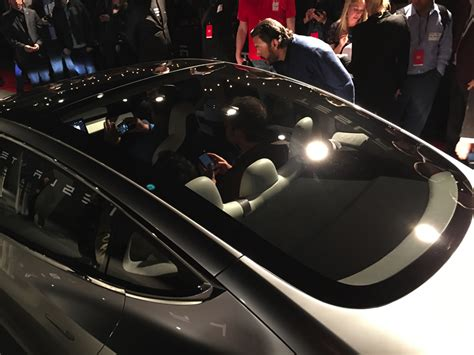 tesla inside roof tesla model 3 announced release set for 2017 price