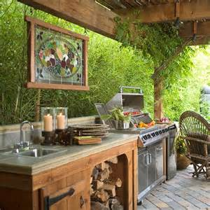 Outdoor Kitchens Ideas 20 Ideas And Examples Of Well Arranged Outdoor Kitchens