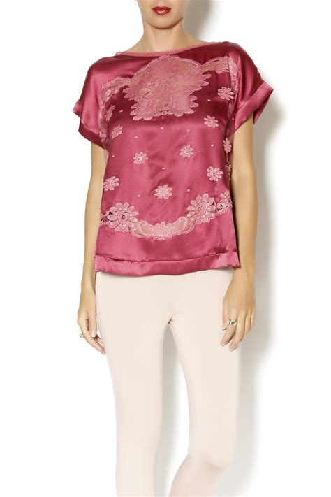 Blouse Marimar shell couture veiled camisole blouse from miramar