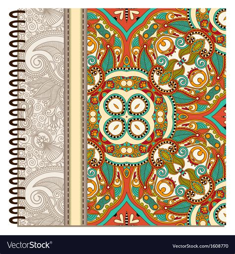 notebook cover design vector free download design of spiral ornamental notebook cover vector art