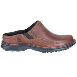 Mens Comfortable Work Shoes Timberland 67525 Men S Mount Burbank Clog Tan Tumbled Full
