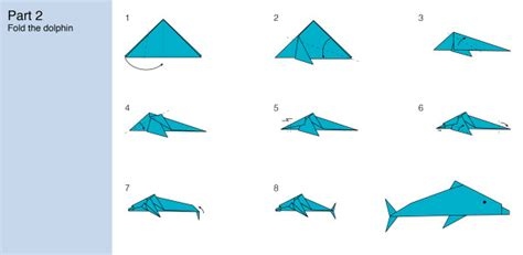 How To Make A Dolphin Out Of Paper - challenge how to fold an origami dolphin marine