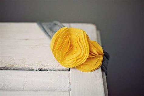 diy jersey knit headband headband jersey knit yellow flowers on grey headband
