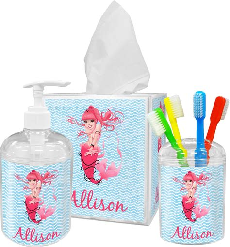 mermaid bathroom accessories set personalized potty