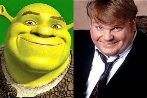 mike myers voice actor chris farley as shrek 1997 story reel and voices youtube