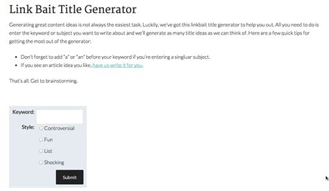 Title Maker For Essays by Title Generator Essay
