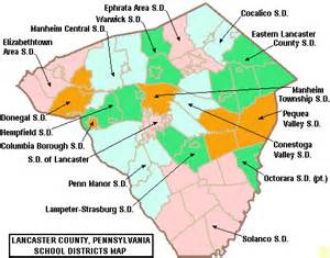 file map of lancaster county pennsylvania school districts