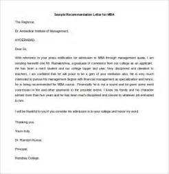 Recommendation Letter Template Mba 21 Recommendation Letter Templates Free Sle Exle Format Free Premium