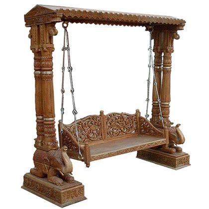 vintage wooden swing buy antique swing from indian artisanal vadodara india