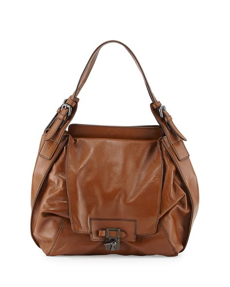 The Kooba by Kooba Valerie Soft Leather Hobo Bag In Brown Lyst