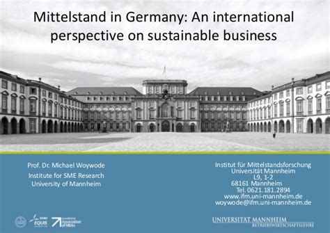 International Mba Programs In Germany by Mittelstand In Germany An International Perspective On