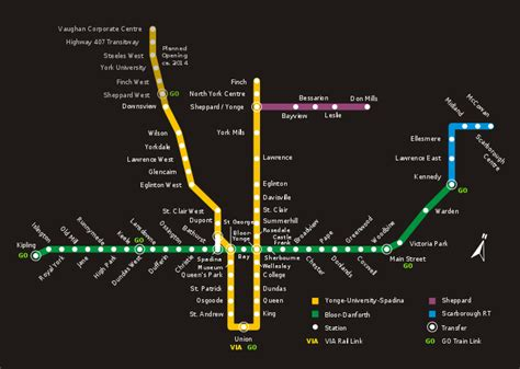 toronto subway map list of toronto subway and rt stations wikis the wiki