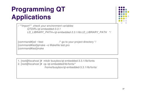 programming with qt for embedded linux pdf building