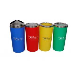 Color coded plastic dustbins amp trash cans 60l green revolution