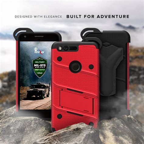 zizo bolt series google pixel xl tough case belt clip