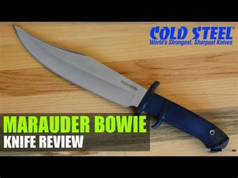 cold steel marauder bowie review cold steel trail master review and cutting demo part 2 2