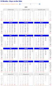 18 Month Calendar Template by Image Of Adjustable And Printable Excel Calendar 18