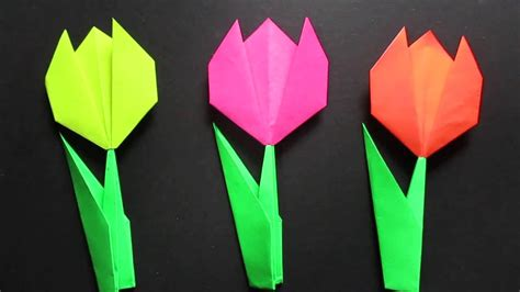 How To Make Paper Tulips Easy - tulip flower easy origami tulip flower