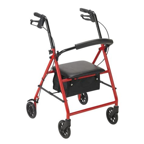 drive rollator drive rollator with 6 in wheels in red r800rd the home