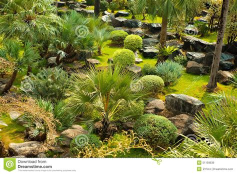 beautiful green landscape design stock photo image 51159639