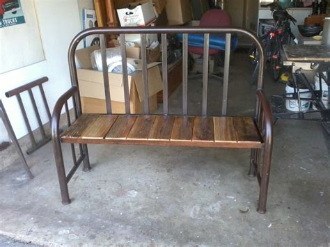 repurposed bed frame repurposed twin bed frame into a bench front door porch