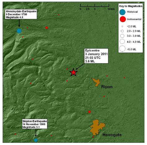 earthquake yorkshire ripon north yorkshire earthquake magnitude 3 6 3 jan