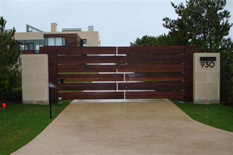 Home Exterior Gate Design Automated Entry Gates East End Fence Gateeast End