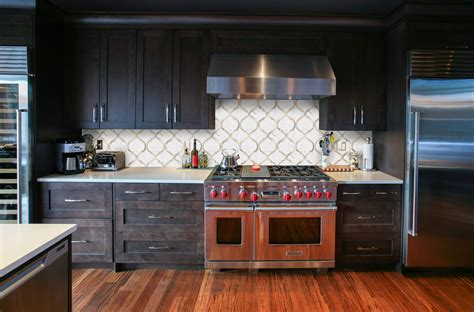 backsplash tiles for dark cabinets arabesque tile design kitchen backsplash waterjet water