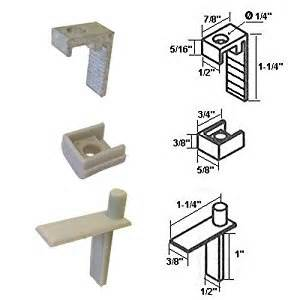hinge pin with hinge clip and bushing for semi frameless