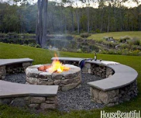 backyard stone fire pit outdoor stone bench courtyard inspiration pinterest