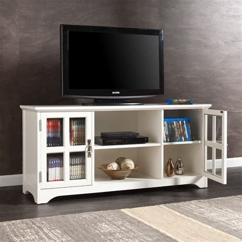 southern enterprises remington 52 quot tv media stand in white