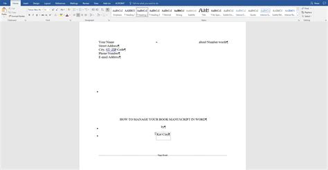 Microsoft Word Manuscript Template by How To Manage And Format Your Book Manuscript In Word