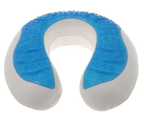 cool gel ufo neck travel pillow gel and soft memory foam pillow