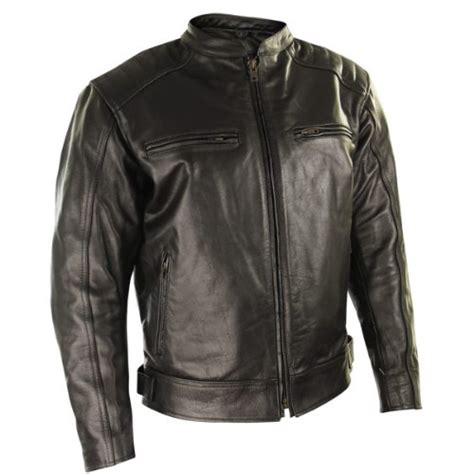 armored leather motorcycle jacket xelement bxu573 mens black armored leather motorcycle
