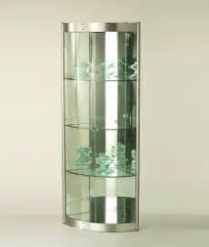 Curio Cabinets Silver Corner Curio Silver Cabinet Chila 617 Modern Curios