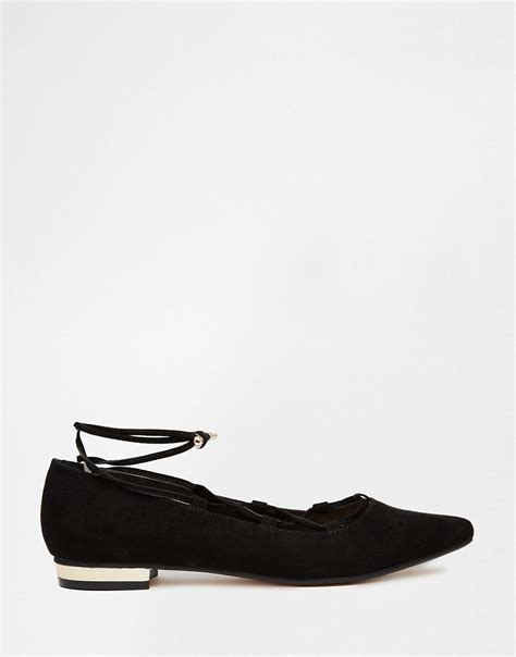 river island flat shoes shoptagr river island ghillie lace up ballerina flat