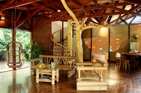 living room treehouse tree house lodge in costa rica vitalmag