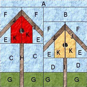 birdhouse quilt pattern myquiltgenie blog garden quilt along birdhouses