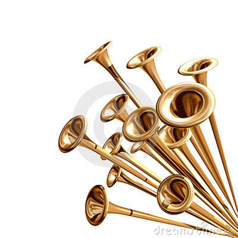 announcing trumpets stock  image