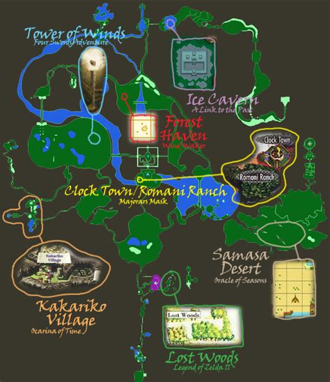 legend of zelda world map legend of zelda disruption in tyme world map by
