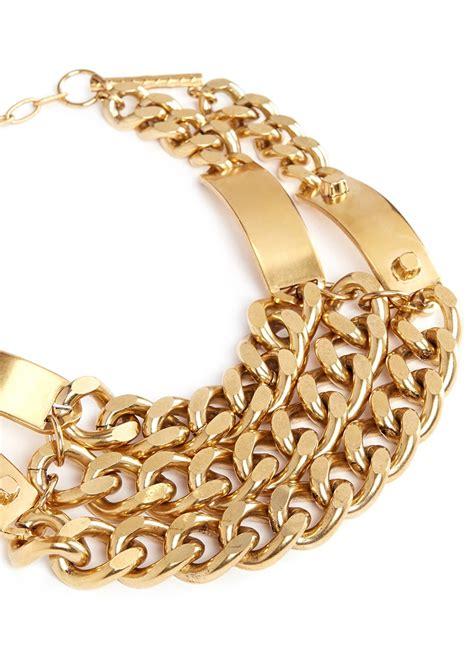 metal plates for jewelry ela heidi metal plate chunky chain plastron