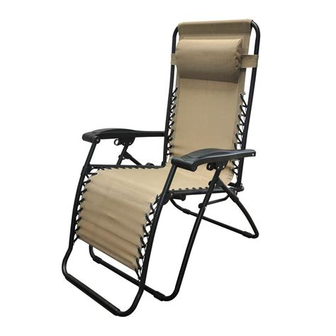 Zero Gravity Patio Chair Caravan Sports Infinity Beige Zero Gravity Patio Chair 80009000150 The Home Depot