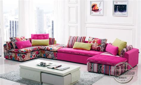 colorful living room furniture u best colorful fabric sectional sofa set fashion living