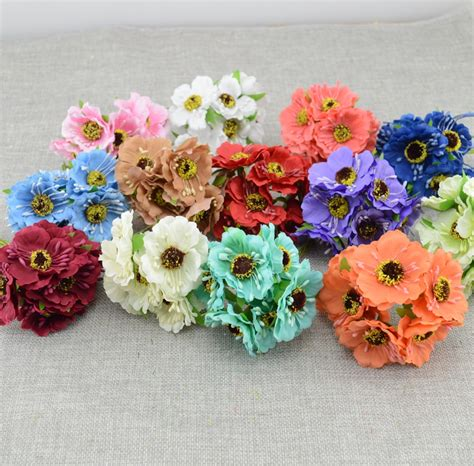 Handmade Artificial Flowers - 6pcs lot simulation artificial cherry blossom artificial