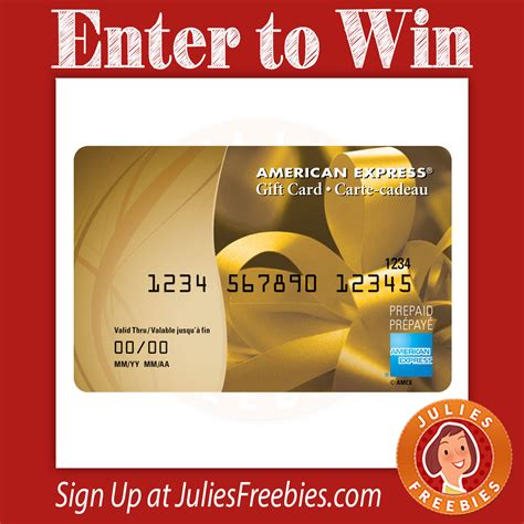 American Express Sweepstakes - win a 1000 american express gift card julie s freebies