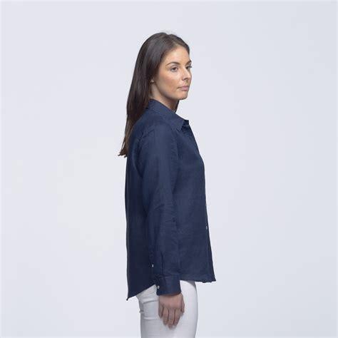 Grateful Blouse Ladsey Navy womens navy linen shirt smpli