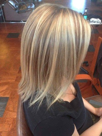 medium lentgh hair with highlights and low lights balayage highlights and lowlights dimensional color